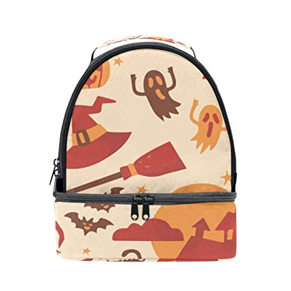 005abfd91be6 Amazon.com - HEOEH Castle Spider Cat Pumpkin Lunch Bag Insulated ...