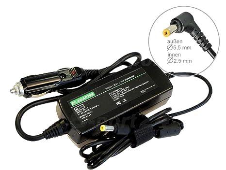 Fuente de alimentación Cargador de Coche Coche máquina Car para ordenador portátil Toshiba Satellite Pro A100