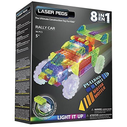 Laser Pegs Ventures 8-in-1 Rally Car Building