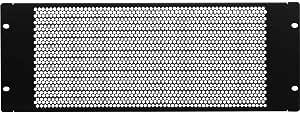 KENUCO Blank Rack Mount Panel Spacer with Venting for 19-Inch Server Network Rack Enclosure Or Cabinet Black (Plate-3U)