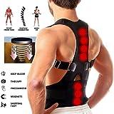 Trady Posture Corrector Back Support Brace Magnetic Therapy Shoulder Belt (Medium)