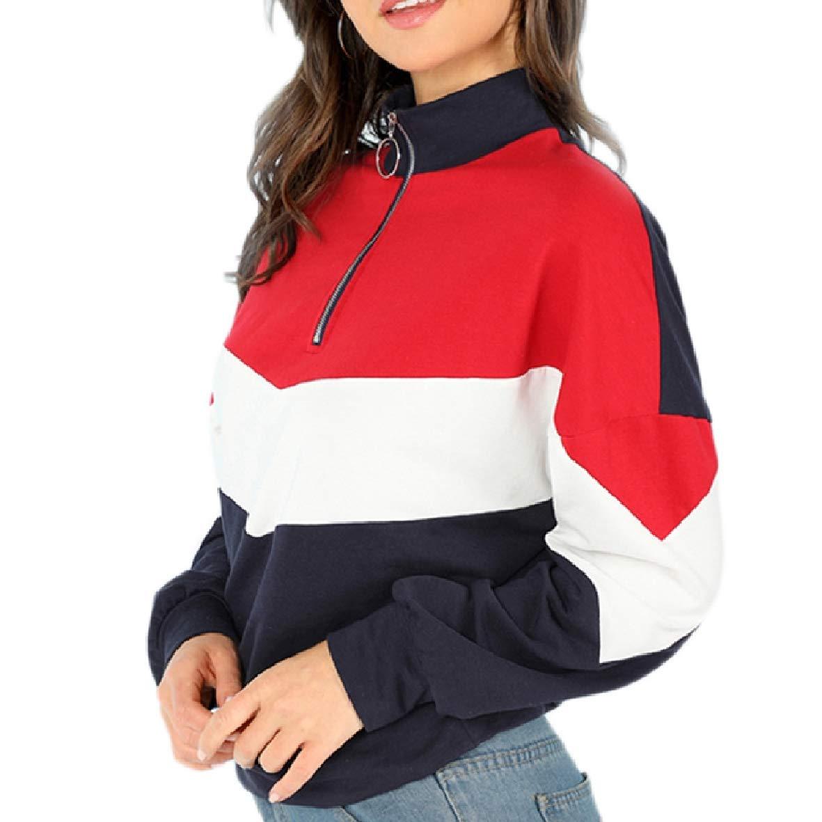 Tootless-Women Spell Color Zip-Up Stand-up Collar Long Sleeve Weekend PU Outwear