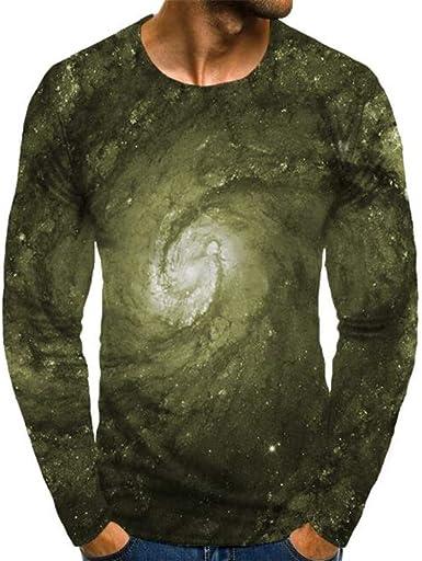 Camiseta Casual De Manga Larga De OtoñO para Hombre Cuello ...