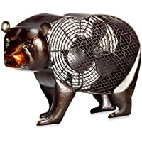 Deco Breeze Black Bear Figurine Table Fan