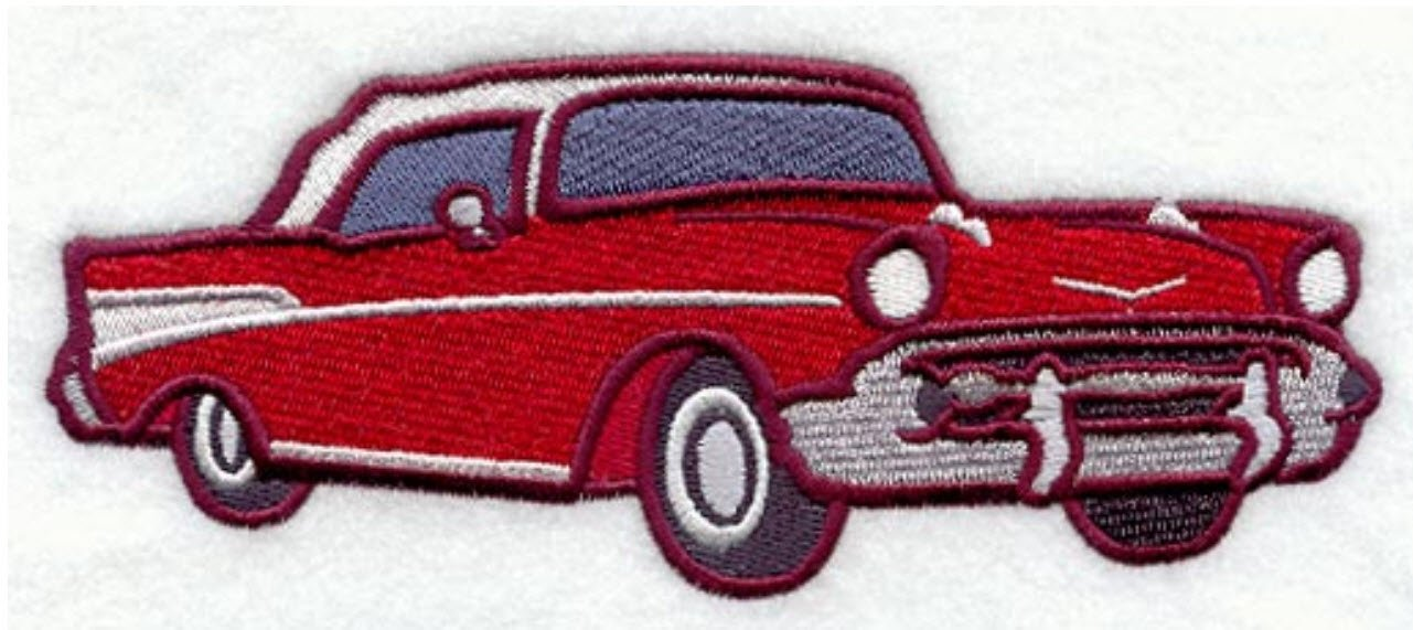 Chevy Bel Air Classic Car Custom Embroidered Sweatshirt Shirt