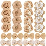 24PCS-Handmade-Natural-Burlap-Flowers-Include-Burlap-Rose-Flowers-Burlap-Lace-Flowers-with-Pearls-Burlap-Hibiscus-Flowers-Burlap-Bowknot-6-Styles-Vintage-Burlap-Rustic-Flowers-for-DIY-Craft