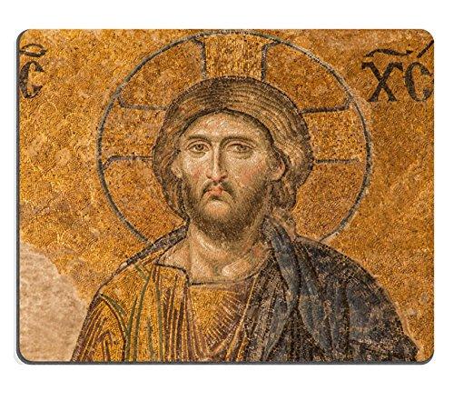 Liili Natural Rubber Mouse Pad Jesus Christ in The Deesis Mosaic of Hagia Sophia Istanbul Turkey Image ID 36813956