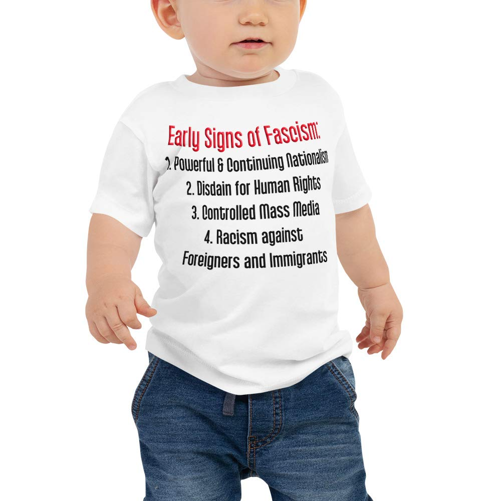 Signs of Fascism Baby Jersey Short Sleeve Tee White