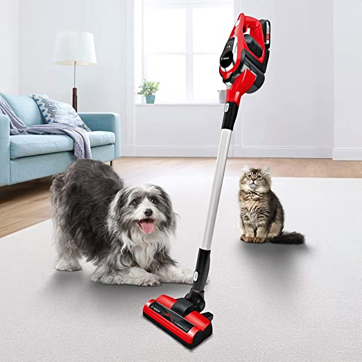 Bosch ProAnimal Unlimited Serie 8 BBS1ZOO Aspirador escoba sin cable especial mascotas, hasta 60 minutos de duración, incluye 1 batería extraíble, color rojo: Amazon.es: Hogar