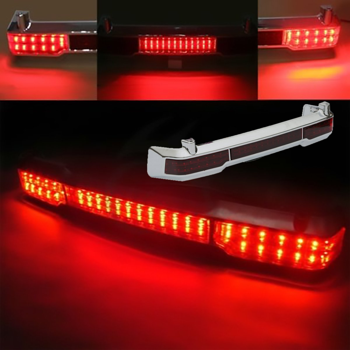 XMT-MOTO LED Brake Tail Light Fits For Harley Touring Classic Ultra King Tour Pack 2009 2010 2011 2012 2013