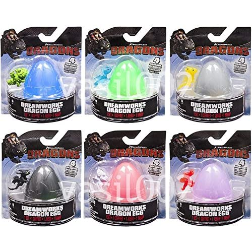 Dreamworks Dragons Drgaon Egg Complete set of 6 by Spin Master