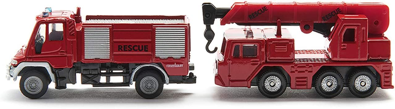 Siku Unimog Feuerwehr mit Boot Unimog Fire Engine with Boat Siku Super