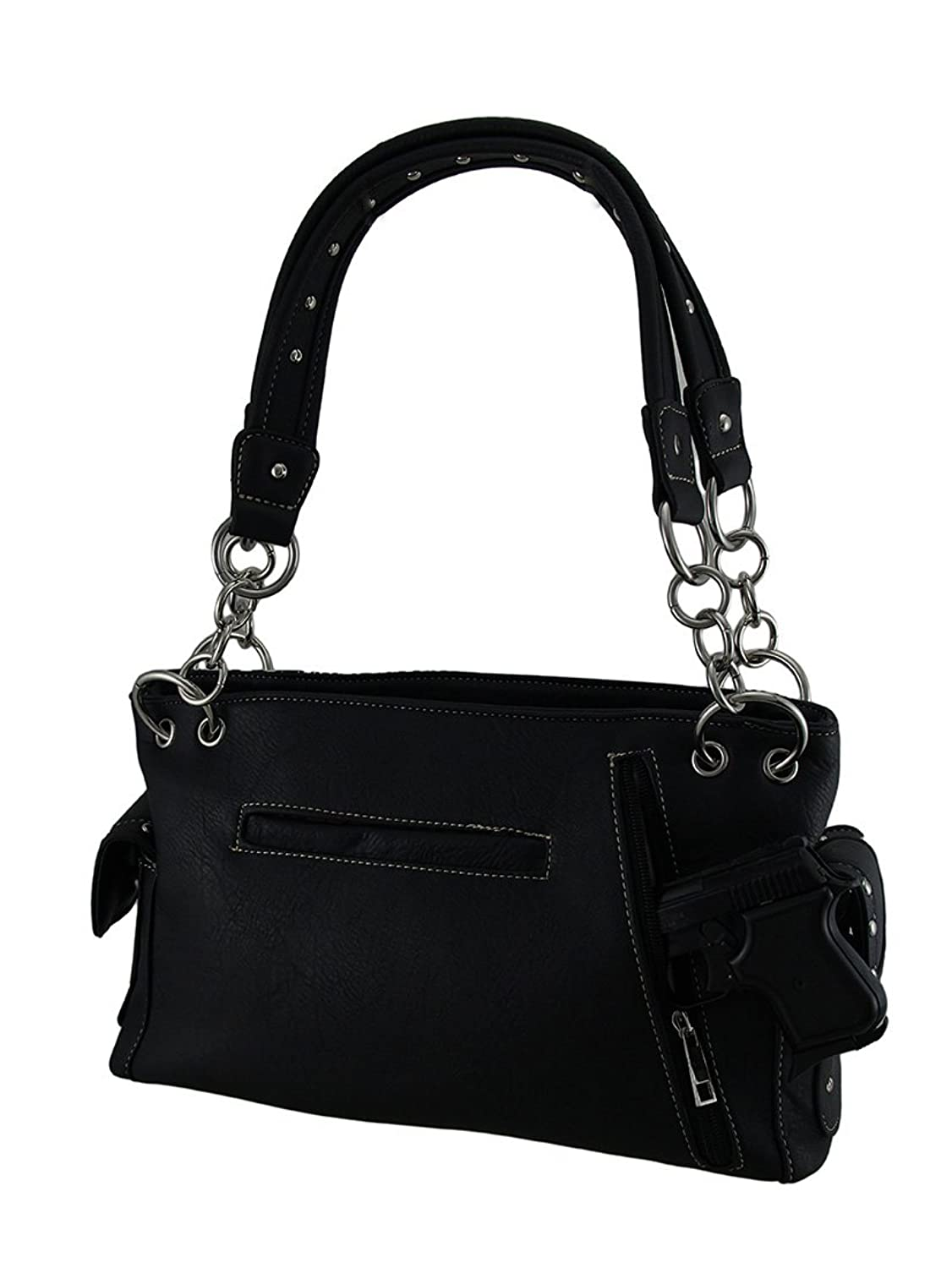 Rhinestone Skull and Bones Lace Look Concealed Carry Handbag