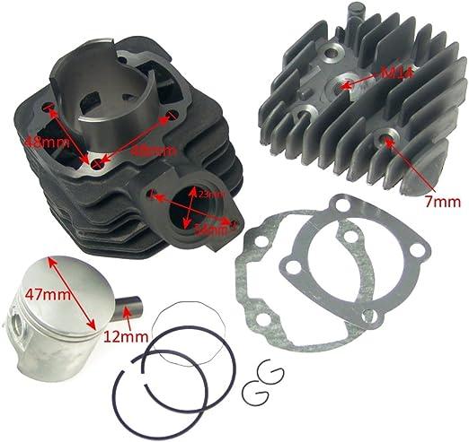 Zylinder Kit 70ccm 2extreme Sport Für Speedfight 1 50cc 2 Squab Sv Tkr Trekker Roller Auto