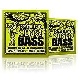 Ernie Ball 2832 Regular Slinky Round Wound Bass Strings 2 Pack