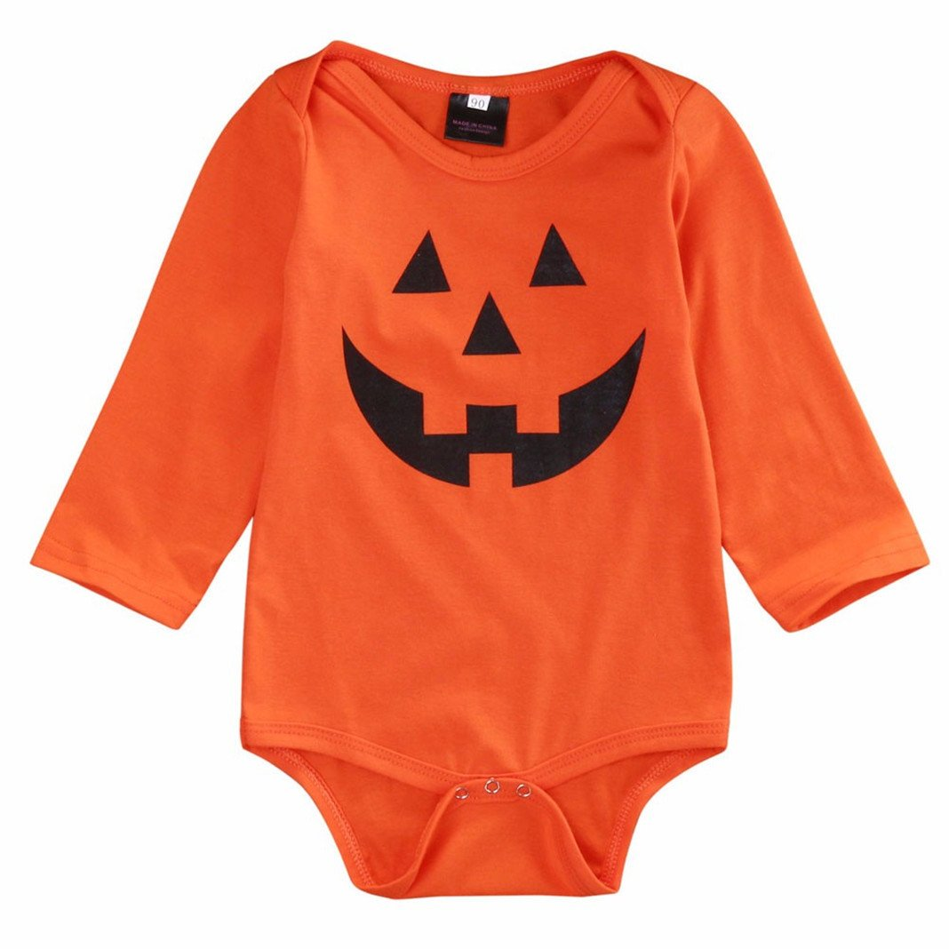 Baby Unisex Boy Girl Bodysuit,Kingko® Infant Halloween Long Sleeve Baby Grow Tops KINY