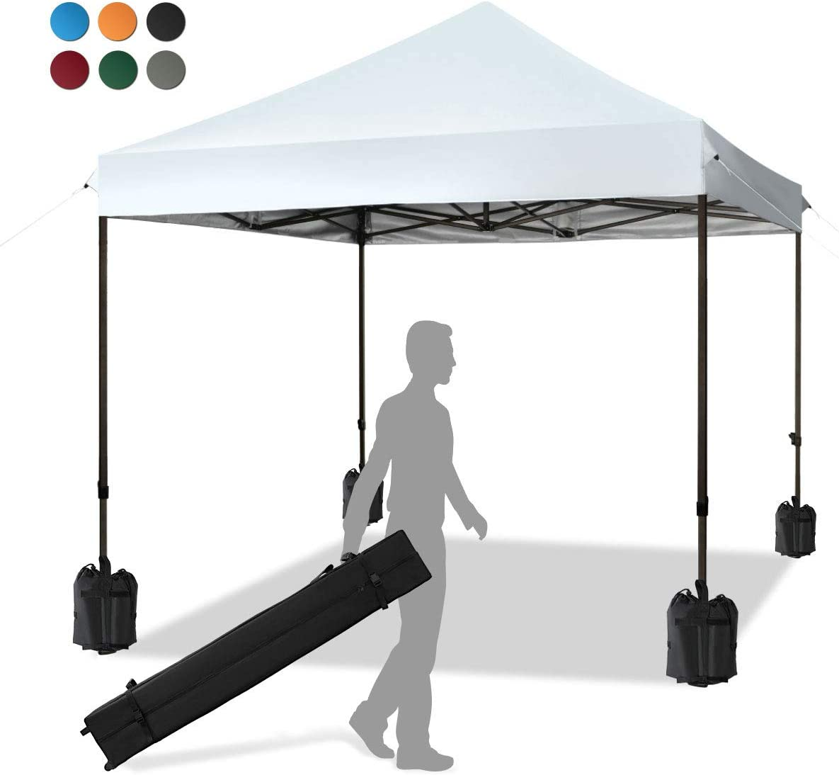 KITADIN Pop up Canopy Tent 10×10 FT Commercial Instant Shelter Outdoor Canopie