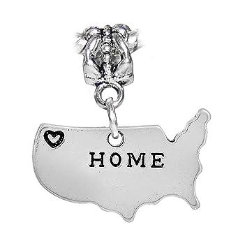 Amazon.com: Estados Unidos de América corazón casa silueta ...