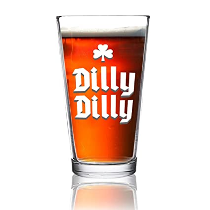Amazon dilly dilly shamrock funny beer pint glass 16 oz dilly dilly shamrock funny beer pint glass 16 oz man gift for publicscrutiny Image collections