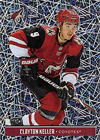 e31a4d90224 2018-19 Panini NHL Stickers  284 Clayton Keller Arizona Coyotes FOIL Hockey  Card