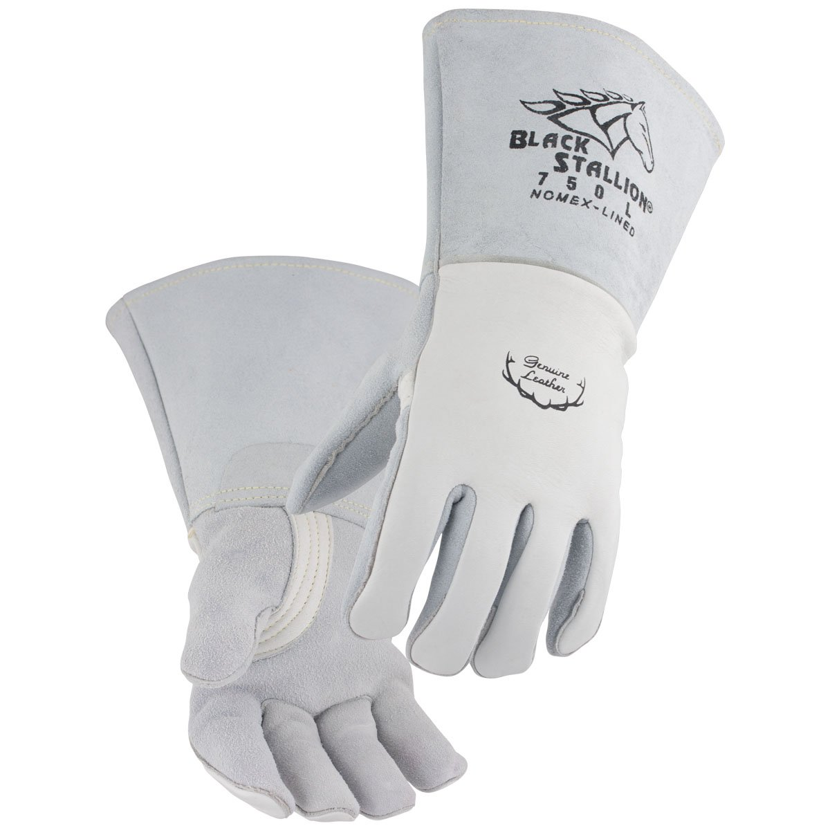Black Stallion 750 Premium Grain Elkskin Stick Welding Gloves, Large