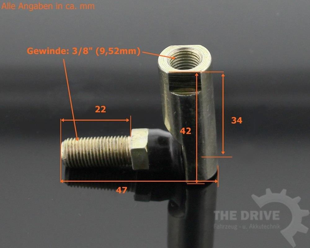 Articulación esférica tractor cortacésped 0.95 cm Compatible con ...