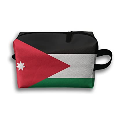 b84dc2f4b7a1 Novelty Flag Of Jordan Travel Multifunction Toiletry Organizers Cosmetic Bag  Business Bag Makeup Pouch For Women