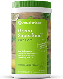 product image for Amazing Grass Green Superfood Energy: Super Greens Powder & Plant Based Caffeine with Matcha Green Tea, Lemon Lime, 60 Servings
