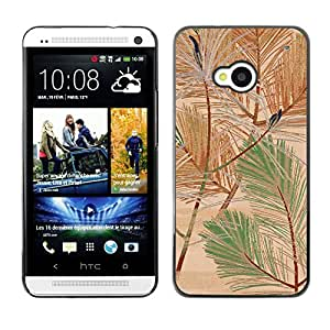 MOBMART Carcasa Funda Case Cover Armor Shell PARA HTC One M7 - Colored Whips Of Palms