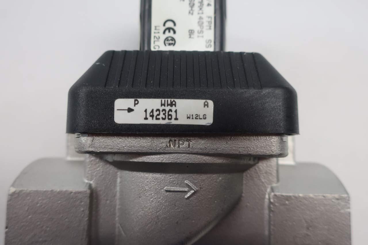 BURKERT 6213 A 3//4 FPM SS 458814 Solenoid Valve 120V-AC 1IN NPT