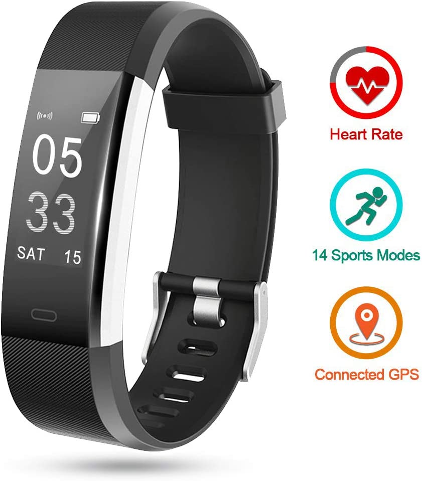 Lintelek Fitness Activity Tracker HR, Fit Watch Sleep Monitor Pedometer Calorie Counter, Sport Watch Fitness Gifts for Men, Women, Kids