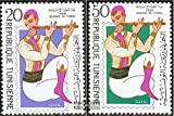 tunisia 705-706 (complete.issue.) 1968 Day the Stamp (Stamps for collectors)