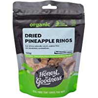 Honest to Goodness Organic Dried Pineapple Rings, 100g