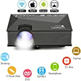 Multimedia HD LED Mini Projector - Bemaxy UC46 Portable 1200 Lumens LED Projector Video for Party, Home Cinema Theater, Entertainment, TV, Laptop, Game, Smartphone