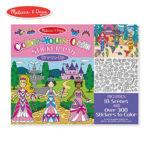 Melissa & Doug Color Your Own Sticker Pad Dress Up Sticker Pad