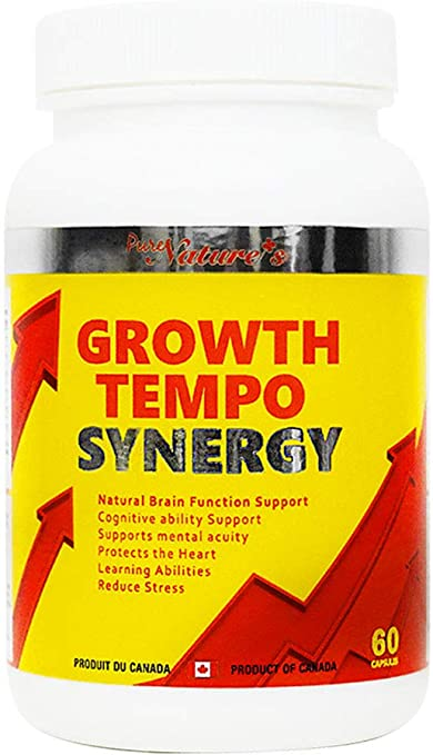 PNC Growth Tempo Synergy 60 Caps - Nutrition for Brain Formation - Healthcare Supplement - Containing Growth Igredients and Various Vitamins for Body