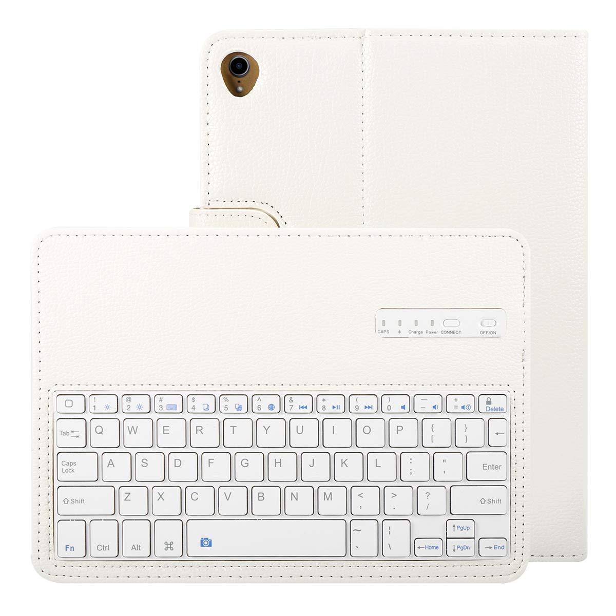 【人気商品!】 Happon ホワイト ホワイト, iPad Pro 11インチ2018ケースセット 取り外し可能なワイヤレスUSAキーボードタブレットプロテクターケース 2018用 フリップ耐衝撃性 フルプロテクション iPad Pro 11インチ 2018用 ブラック, ホワイト, 06FH-T8-307 ホワイト B07KTZGQTN, アクセサリーパーツ コモレビスタ:43e84b1d --- a0267596.xsph.ru