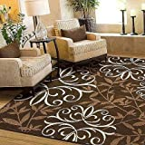 Amazoncom Better Homes and Gardens Iron Fleur Area Rug Cream