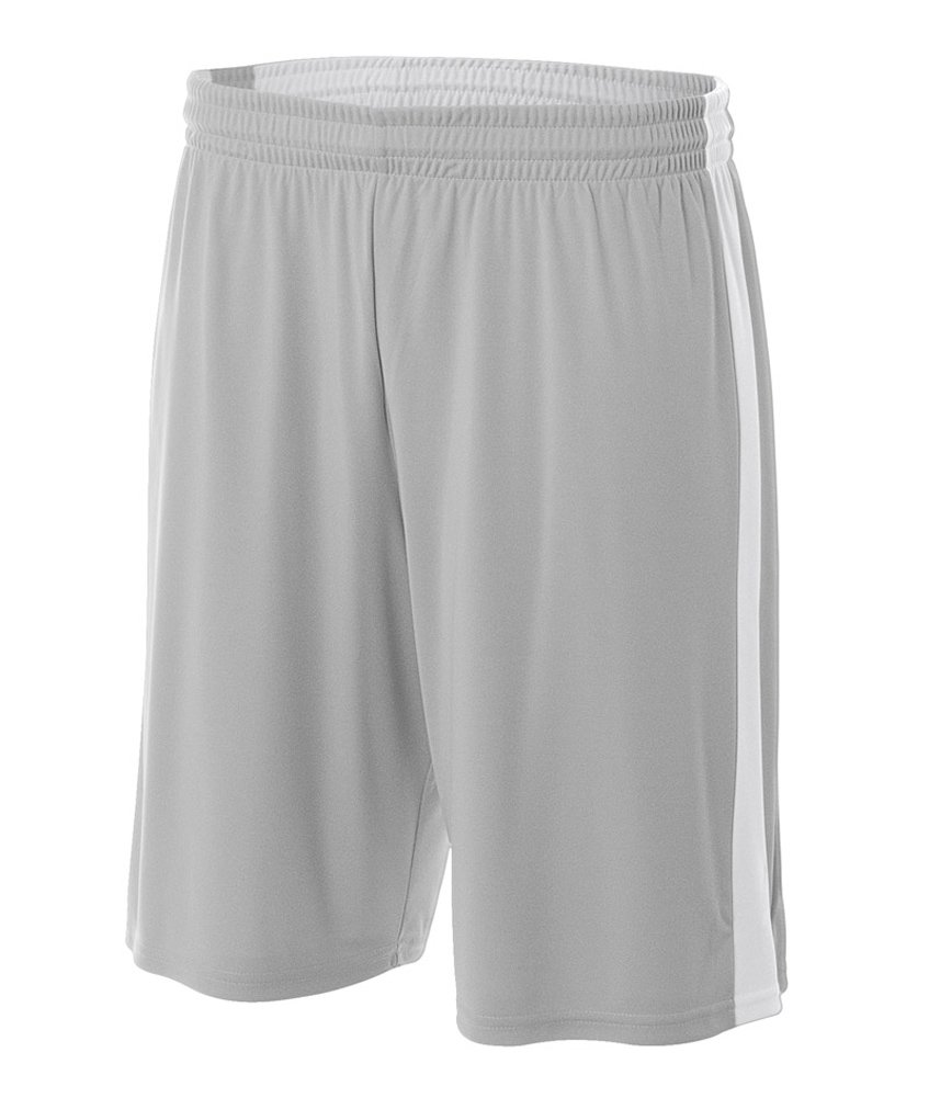 A4 N5284-siw Herren Reversible Basketball Spiel Shorts, Medium, Multi