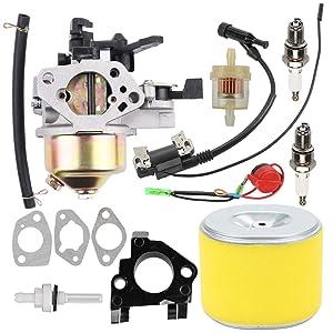 GX390 Carburetor 17210-ZE3-505 Air Filter Fit Honda GX 390 GX340 GX 340 13HP 11HP Lawn Mower Tiller Cultivator Dingo TX 413 188F Generator 16100-ZF6-V01 16100-ZF6-V00