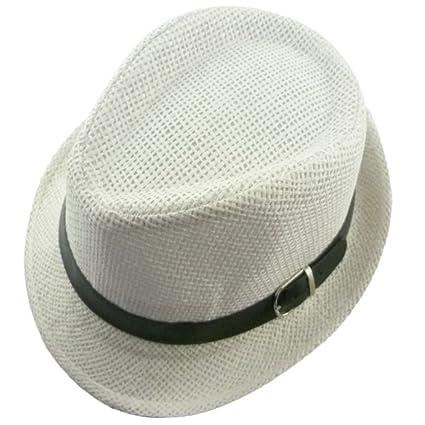Cosanter Bambini Unisex Sole Cappello Cappello di Paglia Bucket Hat  Pescatore Cappello Estate Spiaggia Cappelli Sole 9c4d3dbdaeaf
