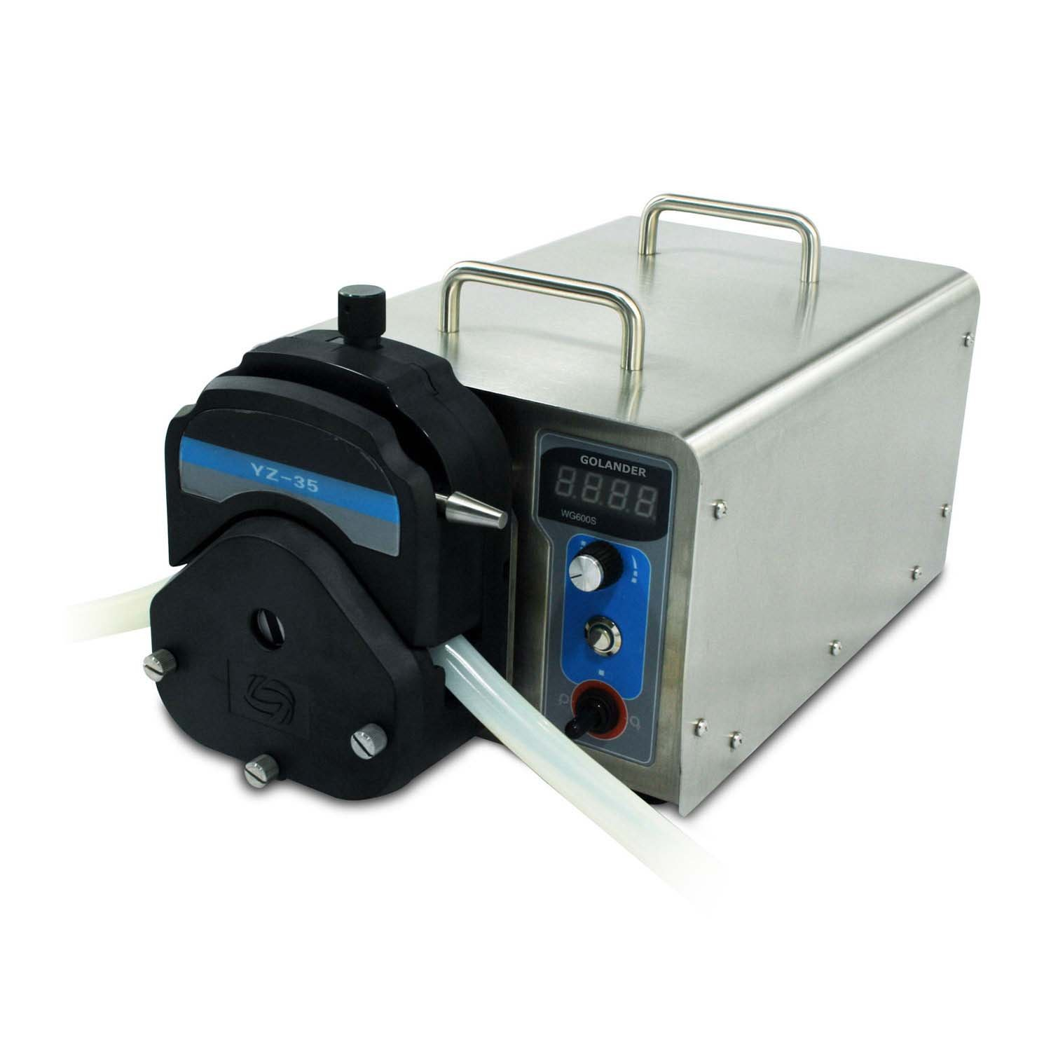 WG600S Industrial Variable Speed Peristaltic Pump with Pump Head YZ35 (1 Channel), Flow Rate 0.4~13 L/min
