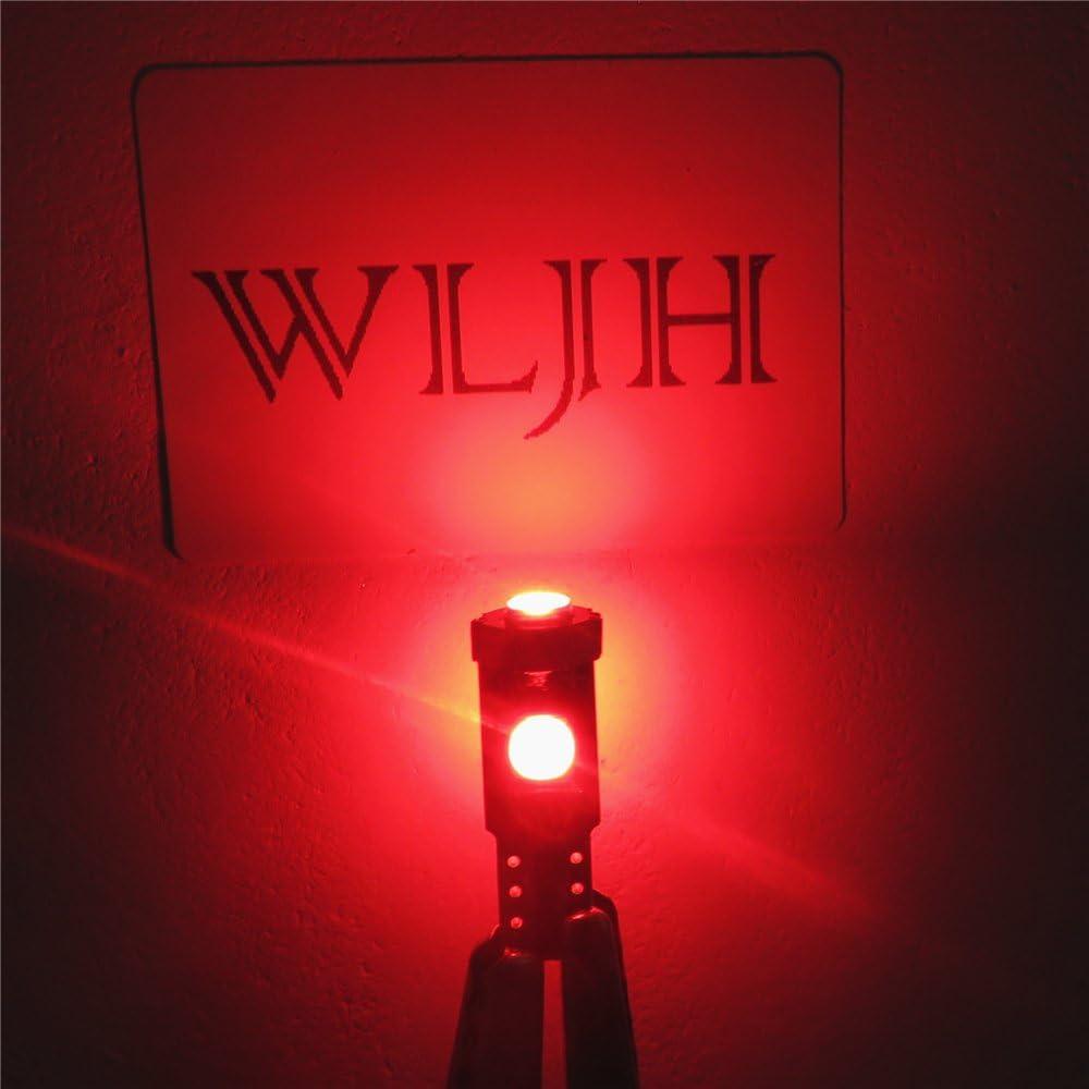 10 Piezas, Verde WLJH CANBUS Error Libre LED Libre Angel Eye Anillo de Halo Iluminaci/ón T5 74 2721 3030SMD Bombillas LED