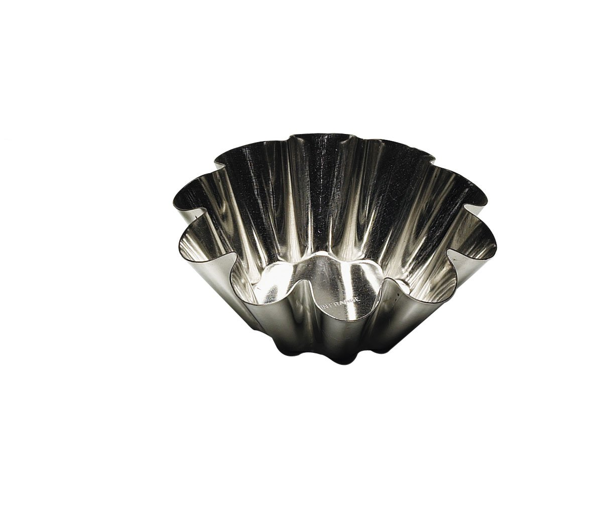 2-1//4 Paderno Fluted Brioche Heavy Tinned Steel Mold