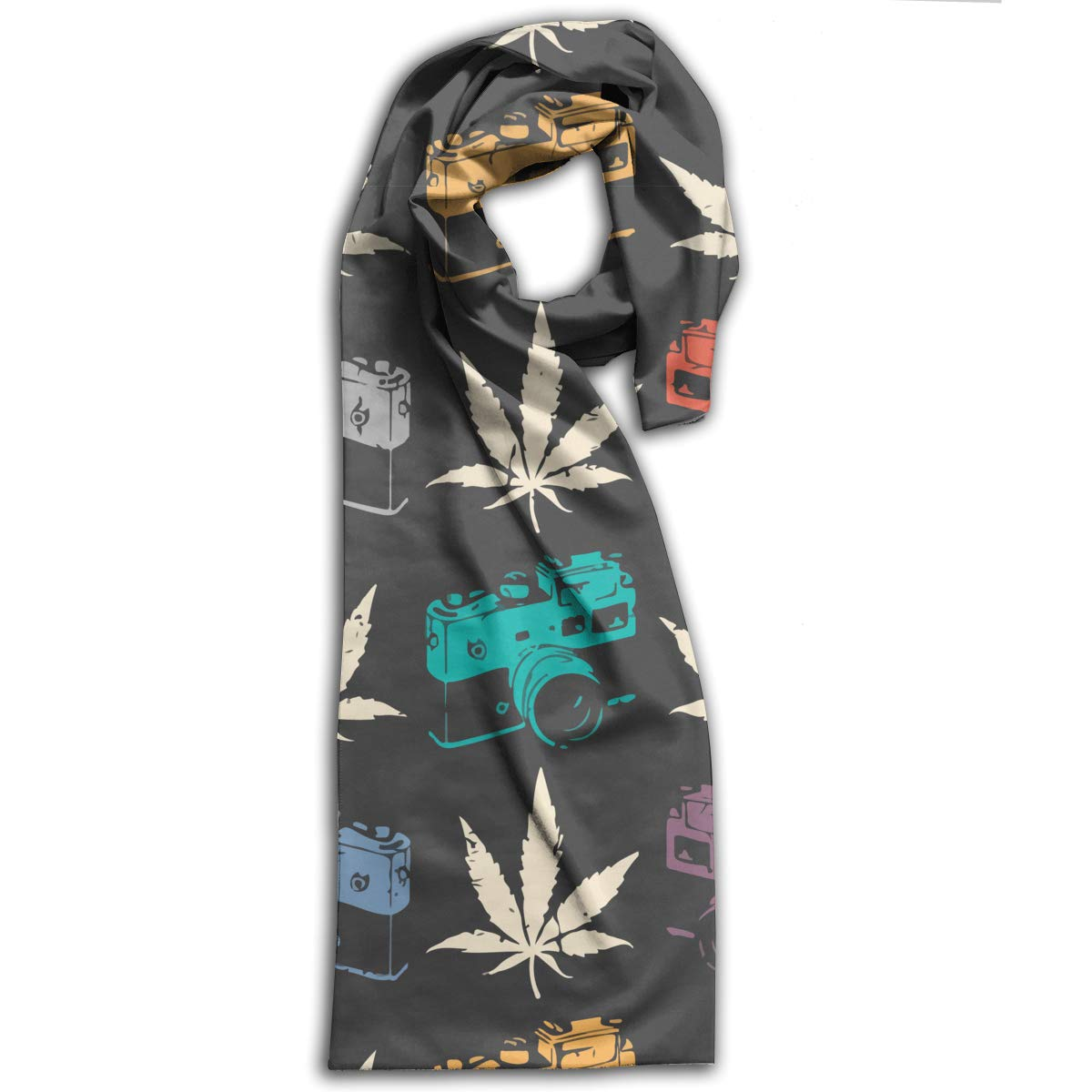 Camera Cannabis Leaf Unisex Fashion Scarf Versatile Head Wrap