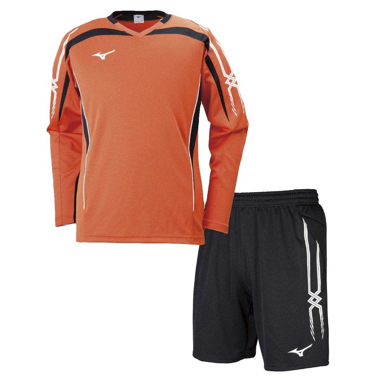 ミズノ(MIZUNO) キーパーシャツ&キーパーパンツ 上下セット(フレイムオレンジ/ブラック) P2MA8070-54-P2MB8070-09 B079YYHK2X M|フレイムオレンジ×ブラック フレイムオレンジ×ブラック M