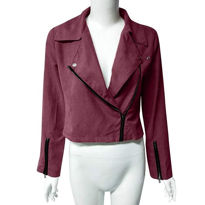 Zainafacai Fashion Womens Classic Zipper Bomber Jacket Retro Lightweight Rivet Coat Outwear at Amazon Womens Coats Shop