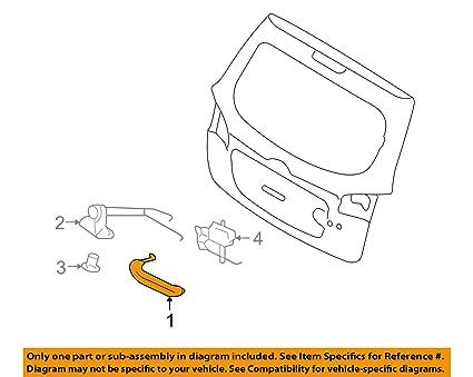 Superb Amazon Com Genuine Hyundai Parts 81260 2B010 Rear Gate Handle Wiring Cloud Scatahouseofspiritnl