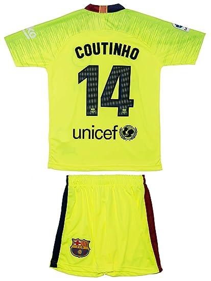 ATB Barcelona #14 Coutinho 201819 AuswärtsGelb Kinder