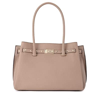 22f41a6d429c Amazon.com  Michael Kors Addison Large Pebbled Leather Tote - Fawn  Shoes